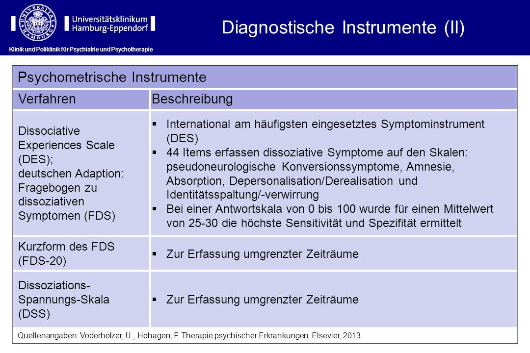 Diagnostische Instrumente (II)