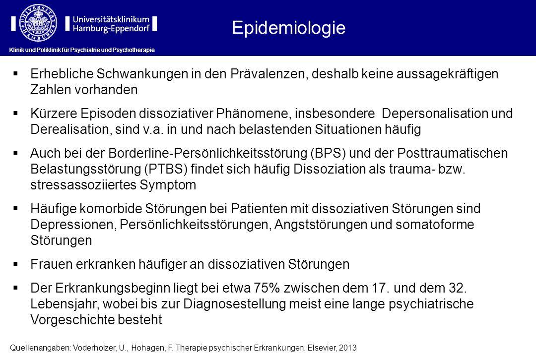 Epidemiologie Klinik und Poliklinik für Psychiatrie und Psychotherapie.