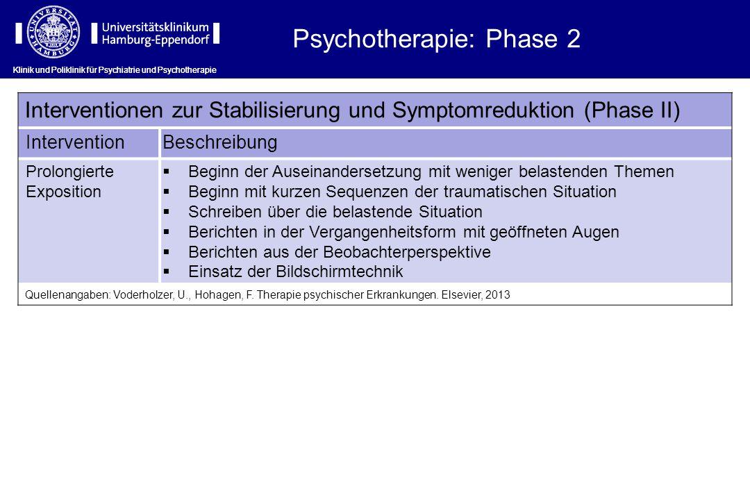 Psychotherapie: Phase 2