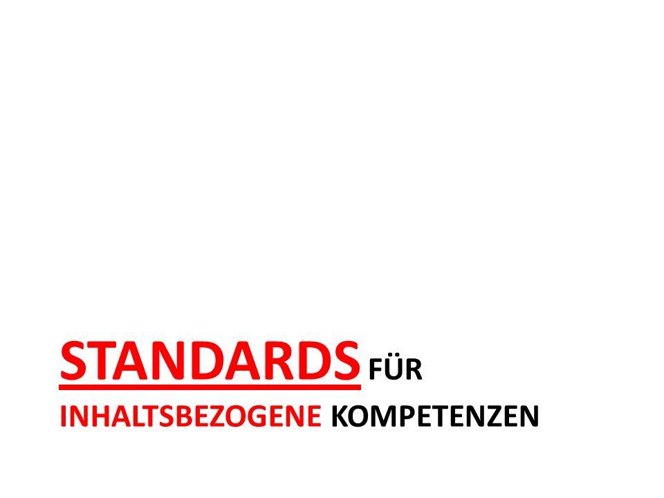 Standards für inhaltsbezogene kompetenzen