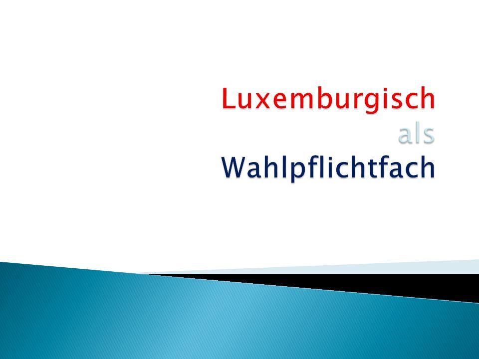 Luxemburgisch als Wahlpflichtfach