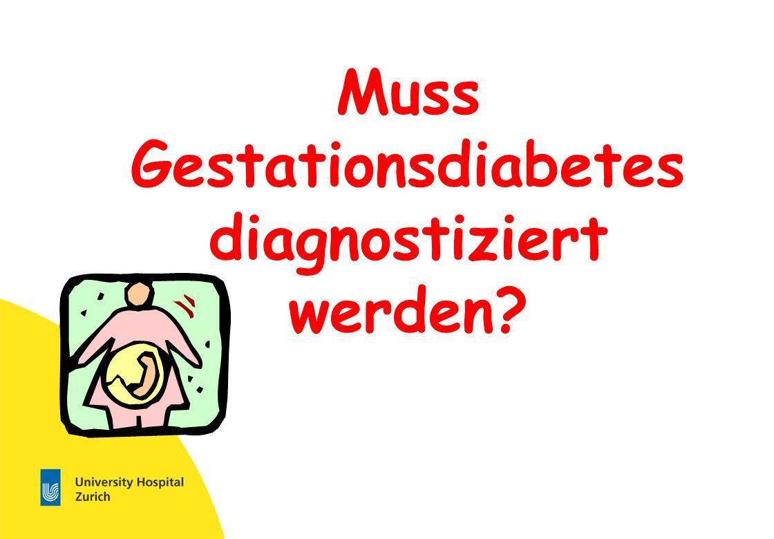 Muss Gestationsdiabetes diagnostiziert werden
