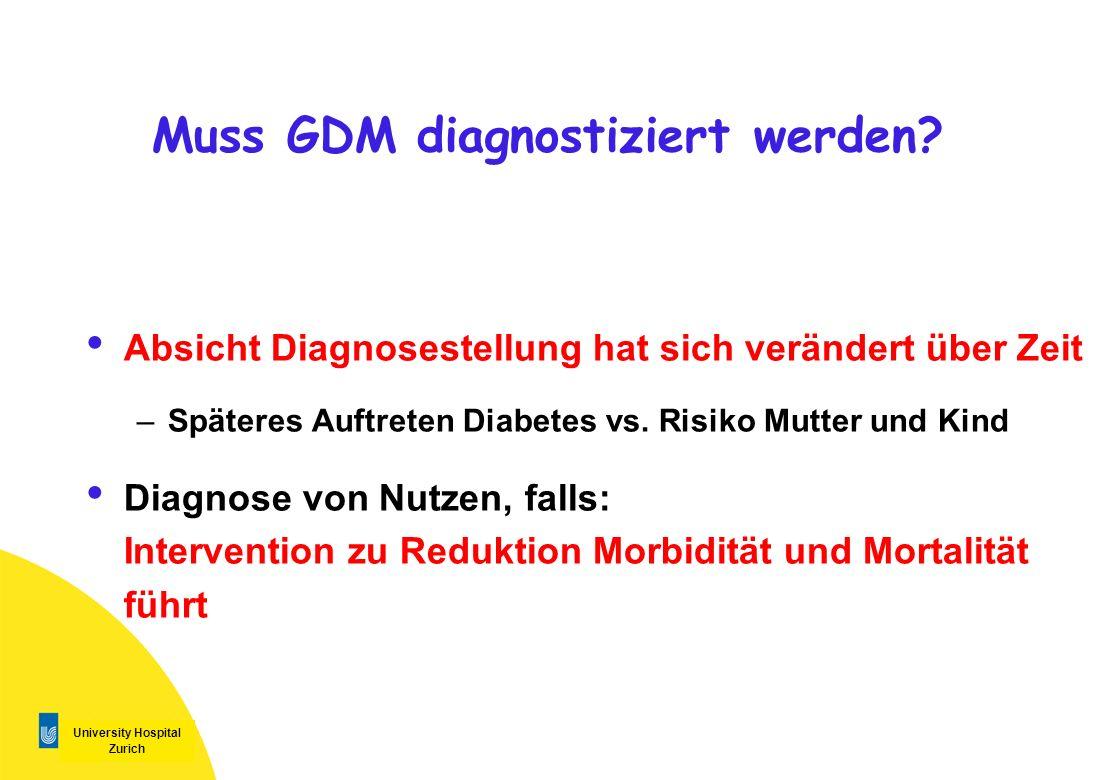 Muss GDM diagnostiziert werden