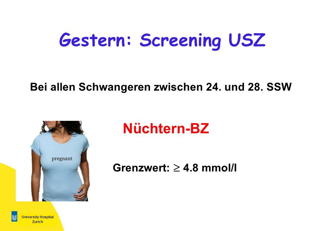 Gestern: Screening USZ