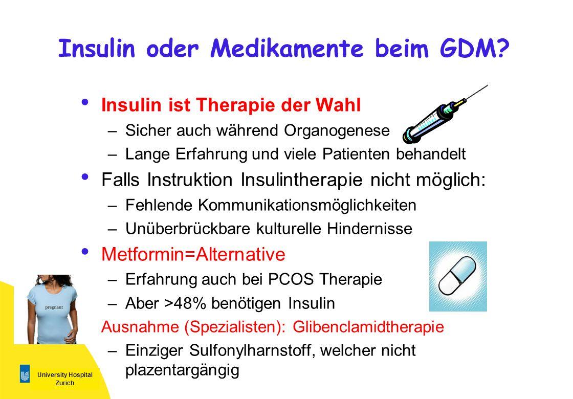 Insulin oder Medikamente beim GDM