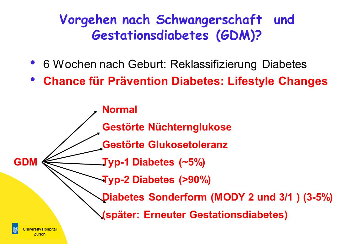 Vorgehen nach Schwangerschaft und Gestationsdiabetes (GDM)