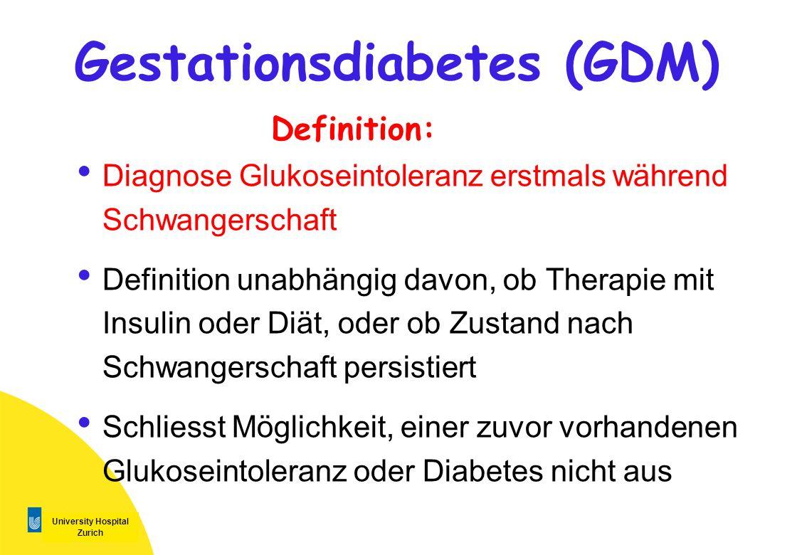 Gestationsdiabetes (GDM)