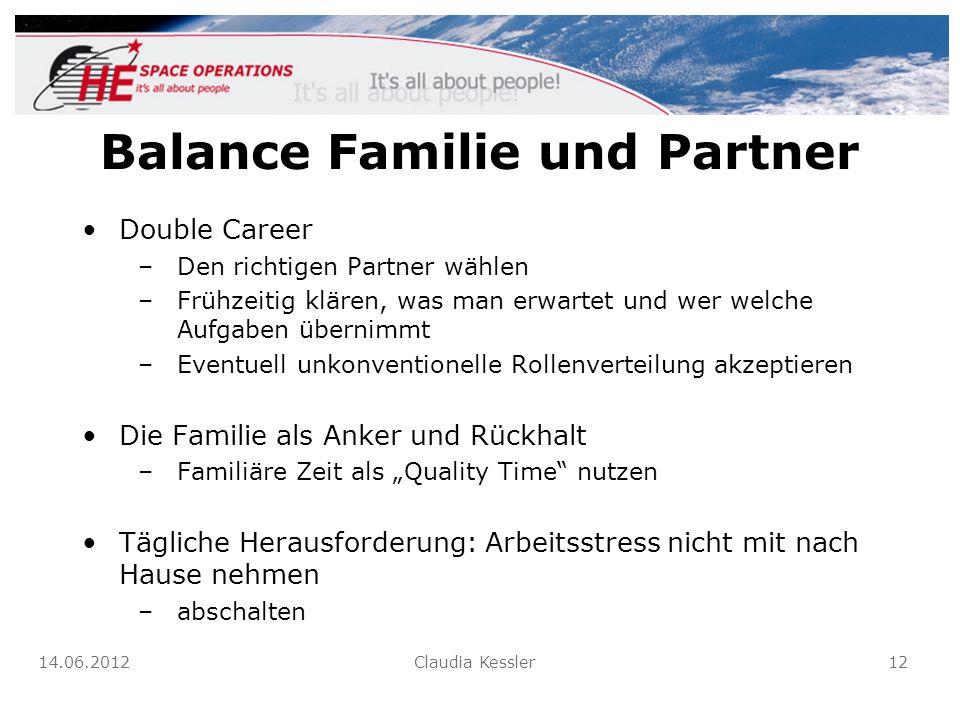 Balance Familie und Partner