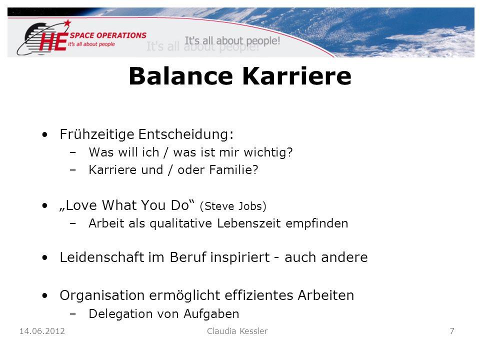 Balance Karriere Frühzeitige Entscheidung: