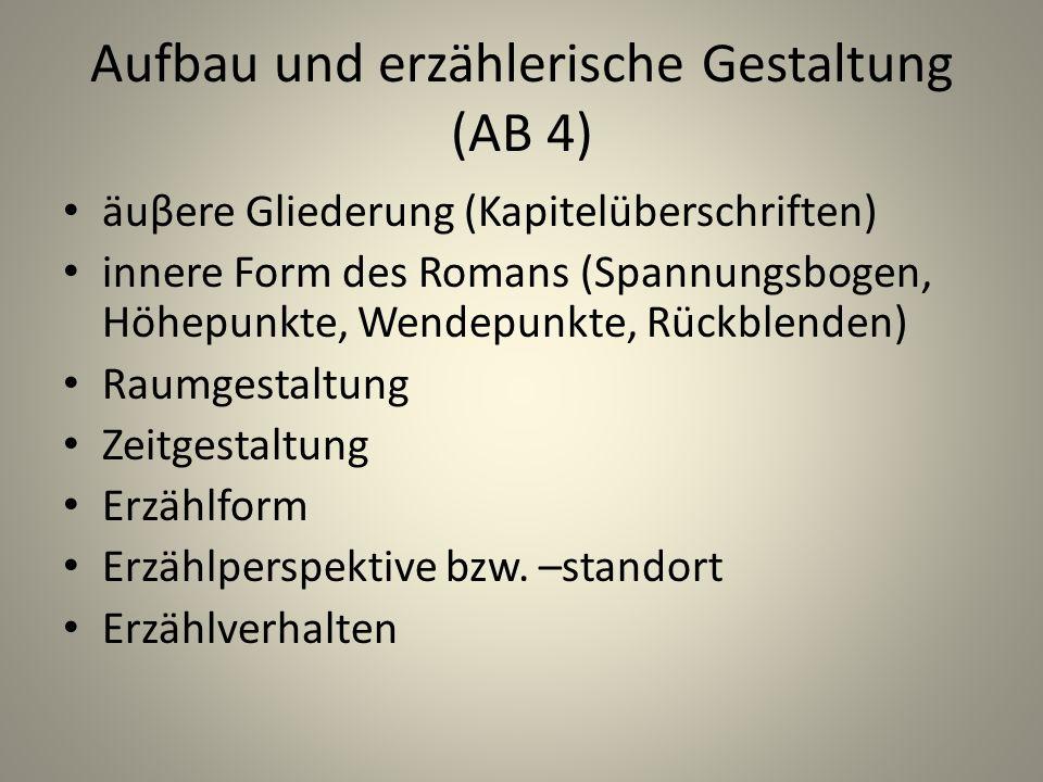 Aufbau und erzählerische Gestaltung (AB 4)