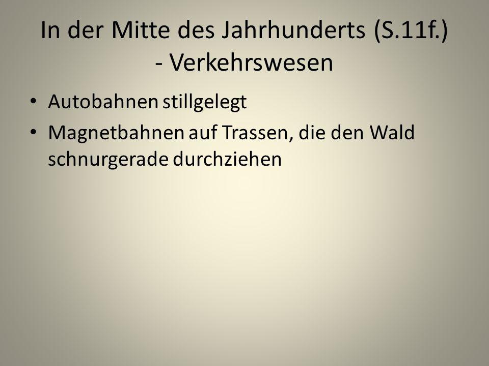 In der Mitte des Jahrhunderts (S.11f.) - Verkehrswesen