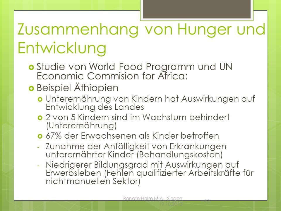 Zusammenhang von Hunger und Entwicklung