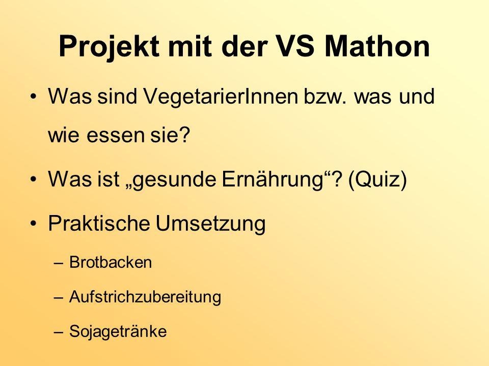 Projekt mit der VS Mathon