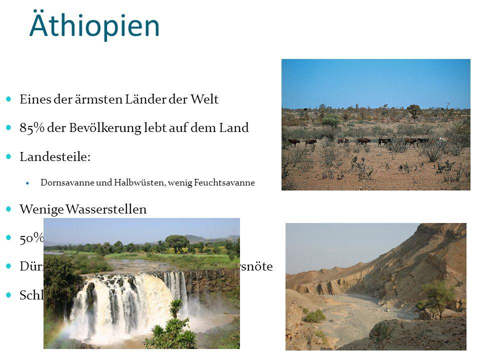 Äthiopien Dornsavanne Eines der ärmsten Länder der Welt