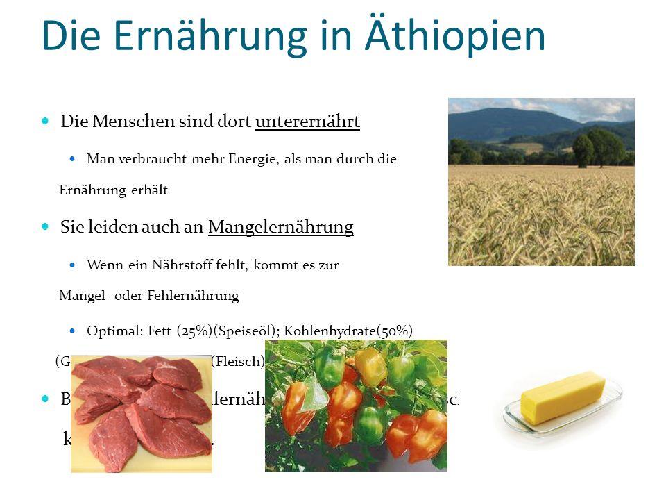 Die Ernährung in Äthiopien