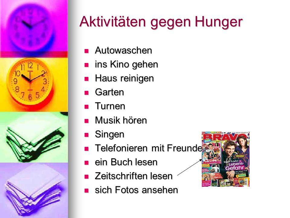Aktivitäten gegen Hunger