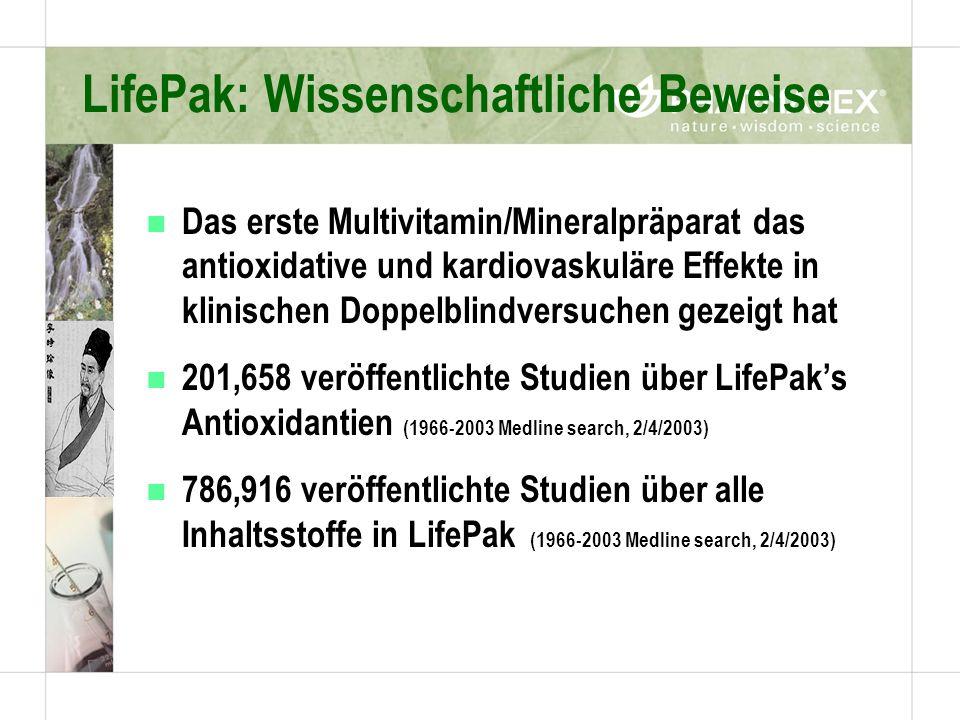LifePak: Wissenschaftliche Beweise