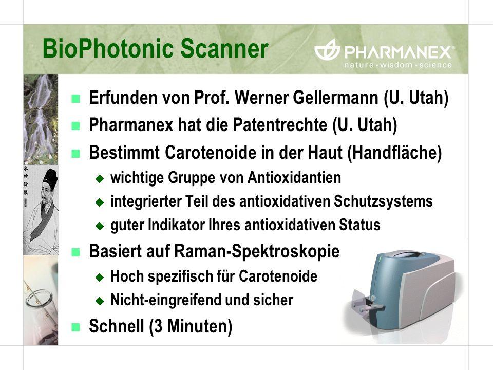 BioPhotonic Scanner Erfunden von Prof. Werner Gellermann (U. Utah)