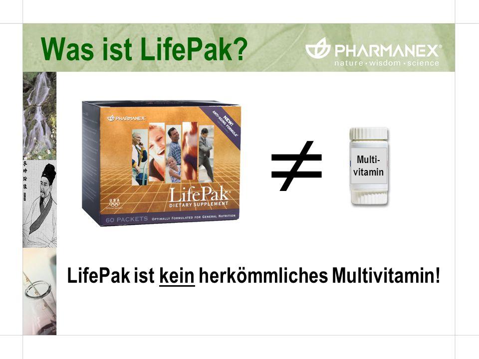 LifePak ist kein herkömmliches Multivitamin!
