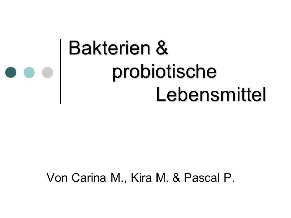 Bakterien & probiotische Lebensmittel