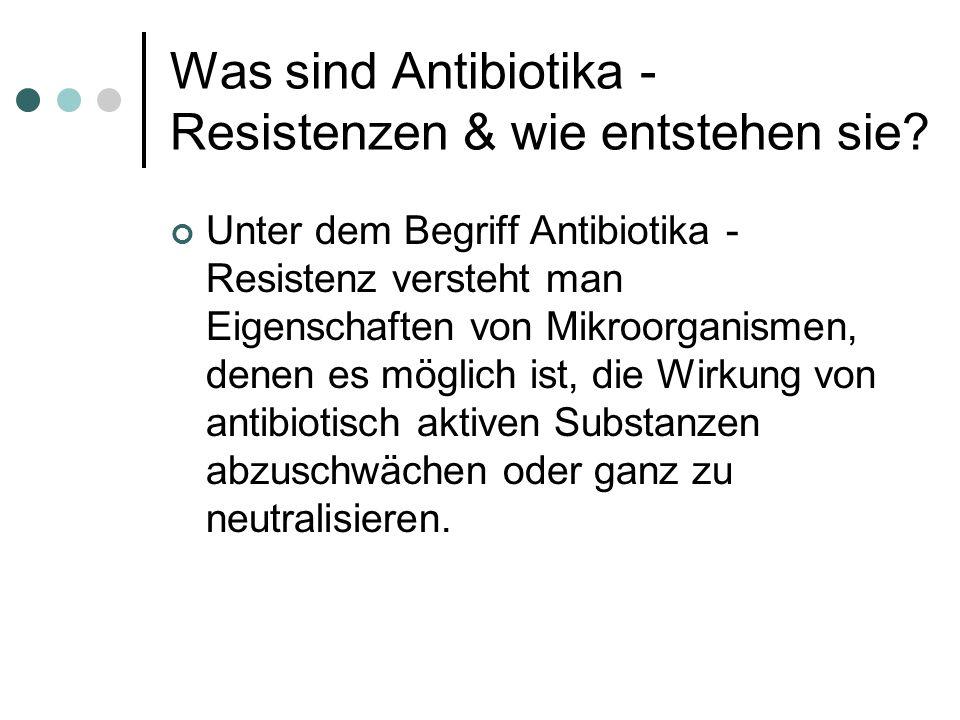 Was sind Antibiotika - Resistenzen & wie entstehen sie