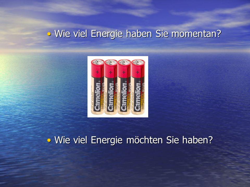 Wie viel Energie möchten Sie haben