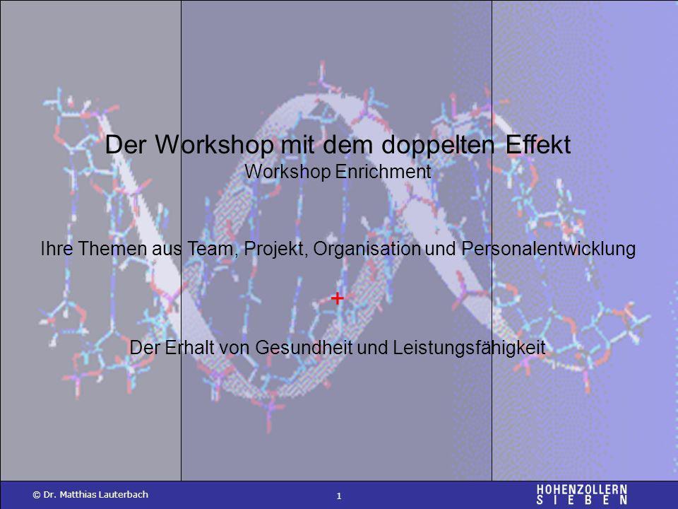Der Workshop mit dem doppelten Effekt