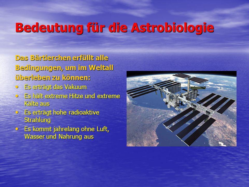 Bedeutung für die Astrobiologie