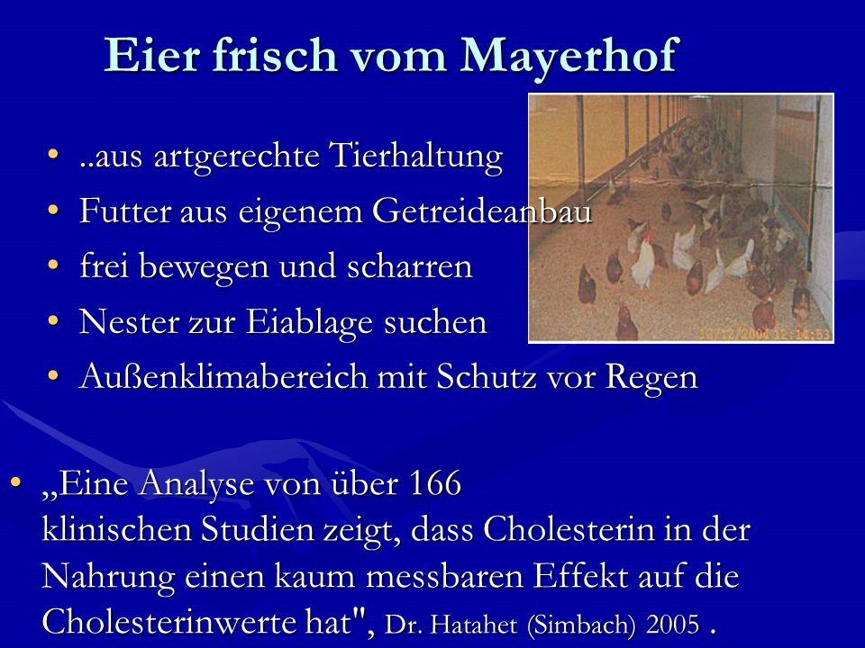 Eier frisch vom Mayerhof