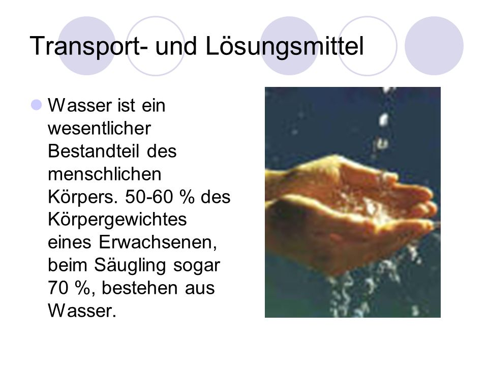 Transport- und Lösungsmittel