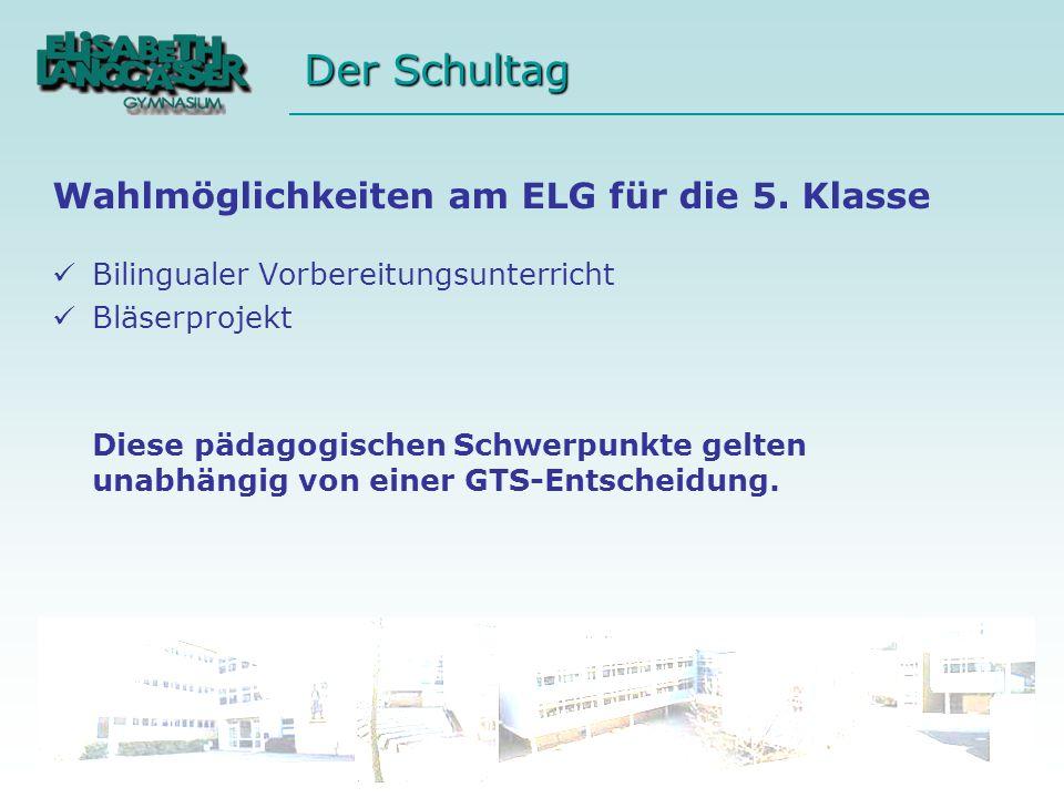 Wahlmöglichkeiten am ELG für die 5. Klasse