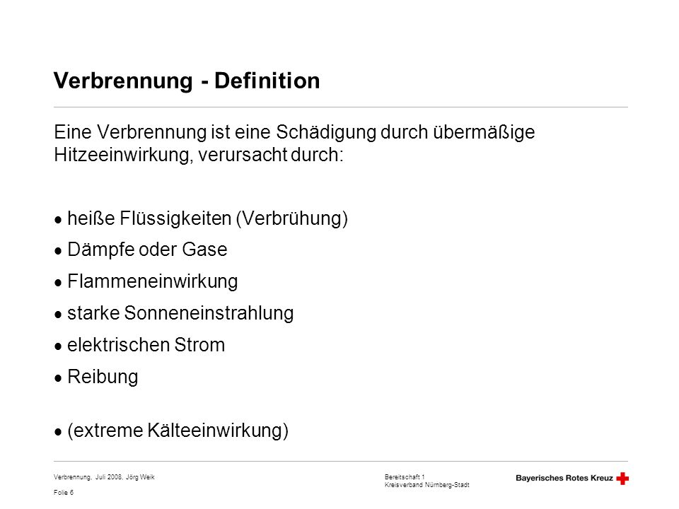 Verbrennung - Definition