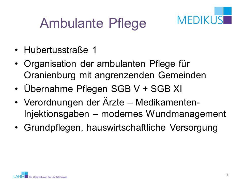 Ambulante Pflege Hubertusstraße 1
