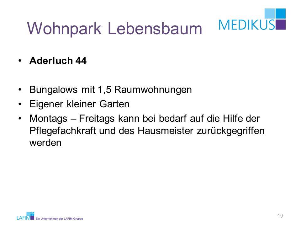 Wohnpark Lebensbaum Aderluch 44 Bungalows mit 1,5 Raumwohnungen