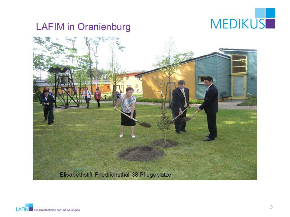 LAFIM in Oranienburg Elisabethstift, Friedrichsthal, 38 Pflegeplätze