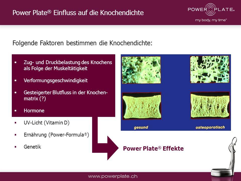 Power Plate® Einfluss auf die Knochendichte