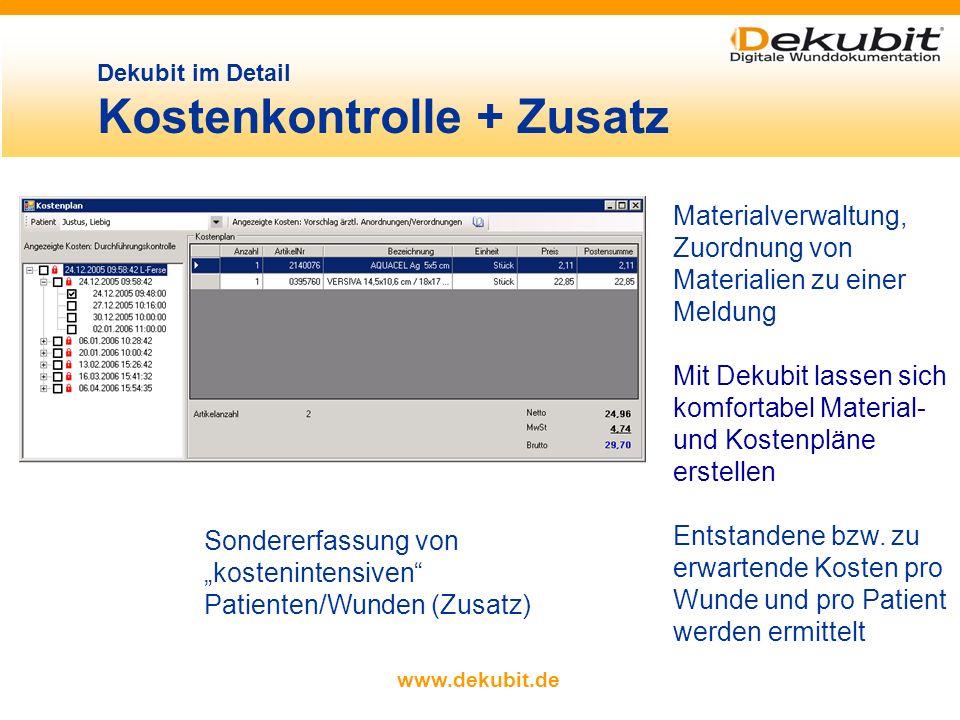 Dekubit im Detail Kostenkontrolle + Zusatz