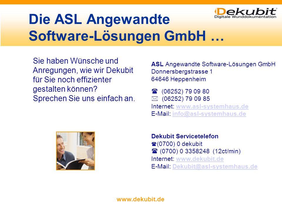 Die ASL Angewandte Software-Lösungen GmbH …
