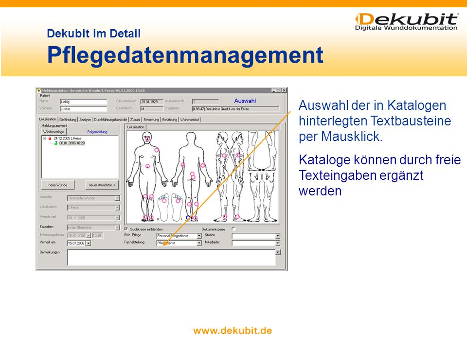 Dekubit im Detail Pflegedatenmanagement
