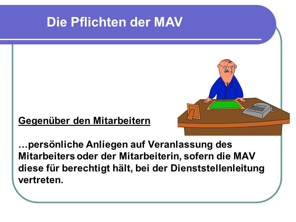 Die Pflichten der MAV