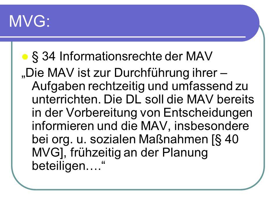 MVG: § 34 Informationsrechte der MAV