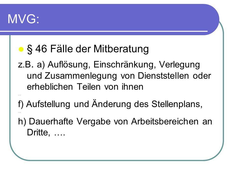 MVG: § 46 Fälle der Mitberatung