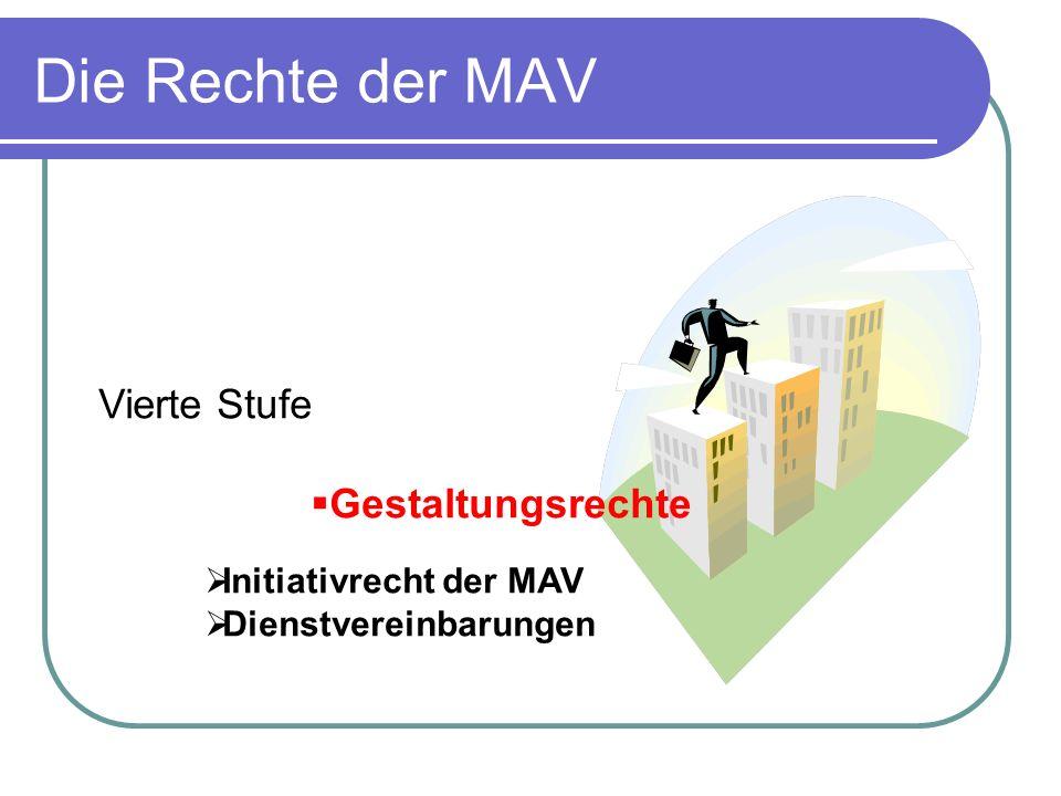 Die Rechte der MAV Vierte Stufe Gestaltungsrechte