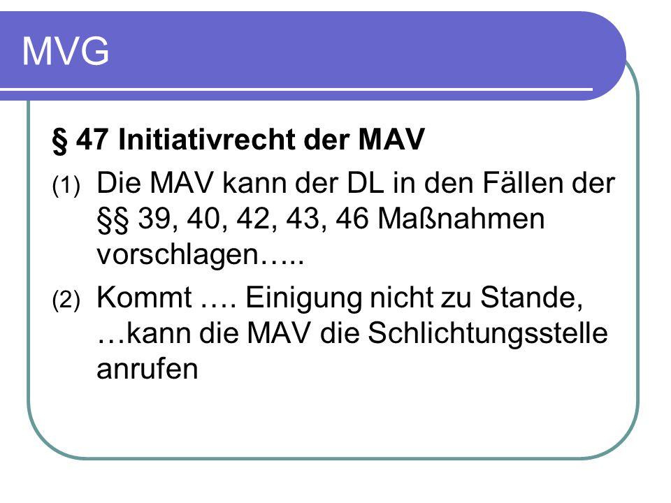 MVG § 47 Initiativrecht der MAV