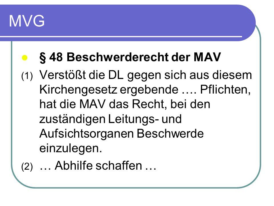 MVG § 48 Beschwerderecht der MAV