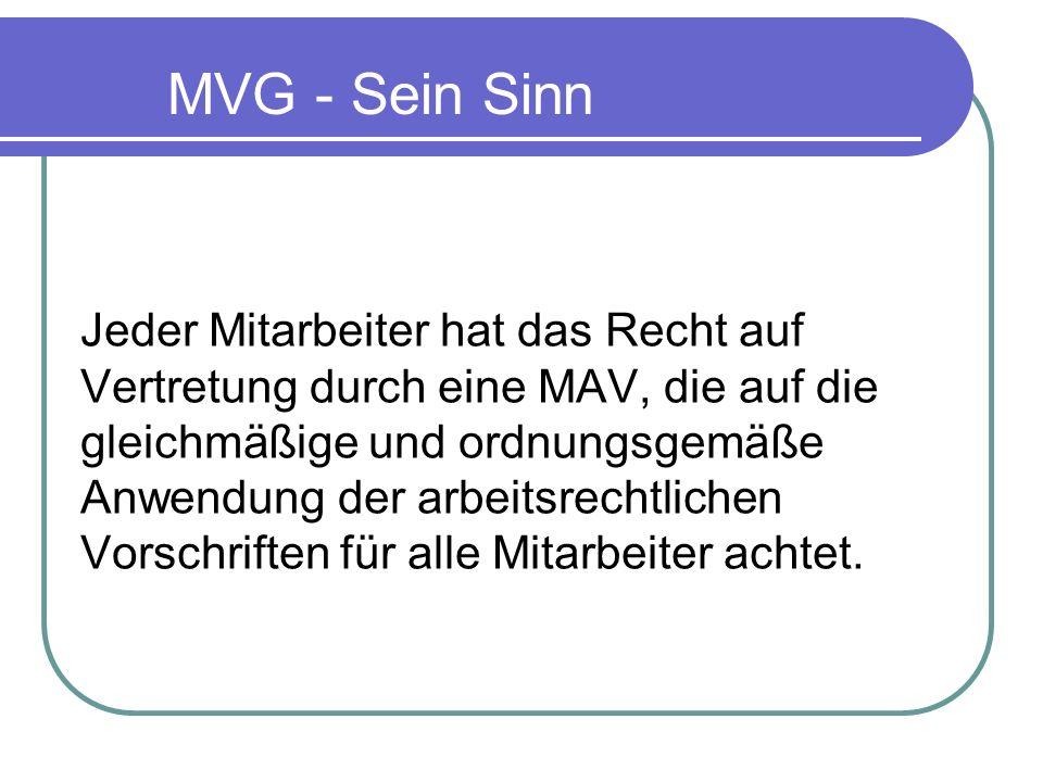 MVG - Sein Sinn