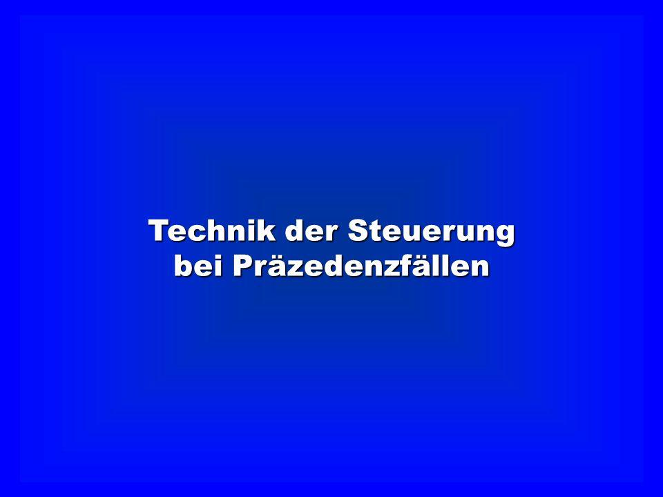 Technik der Steuerung bei Präzedenzfällen