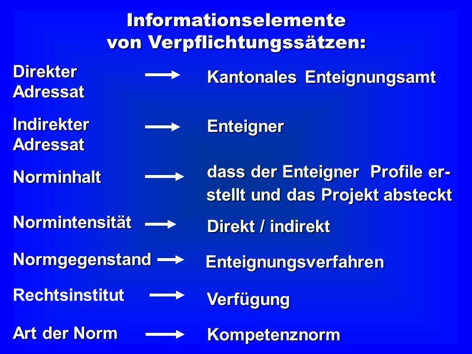 Informationselemente von Verpflichtungssätzen: