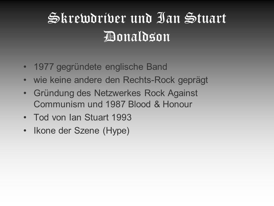 Skrewdriver und Ian Stuart Donaldson
