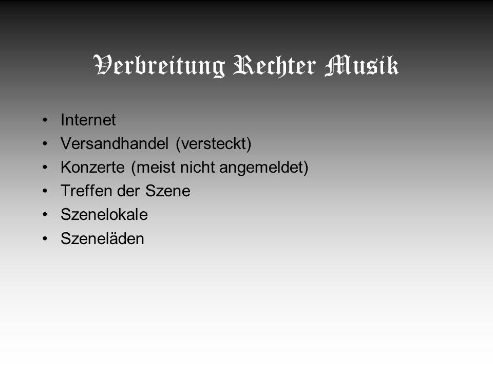 Verbreitung Rechter Musik